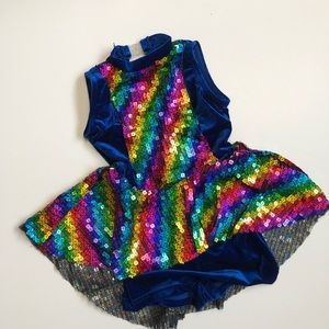 4/$25 Theatricals Costumes Dress Up Rainbow Dress